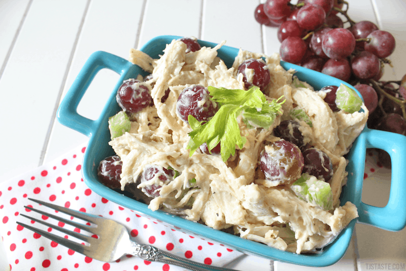 Chicken and Grape Salad Featured