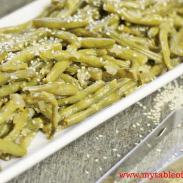 Asian Sesame Green Beans