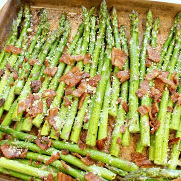 Bacon and Parmesan Roasted Asparagus