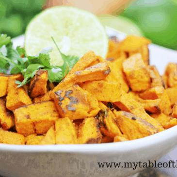 Cilantro Lime Sweet Potatoes