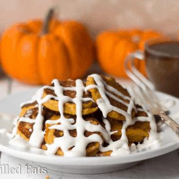 Pumpkin Roll Pancakes from Joy Filled Eats