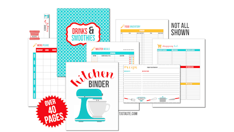 Premium Food Binder Printables
