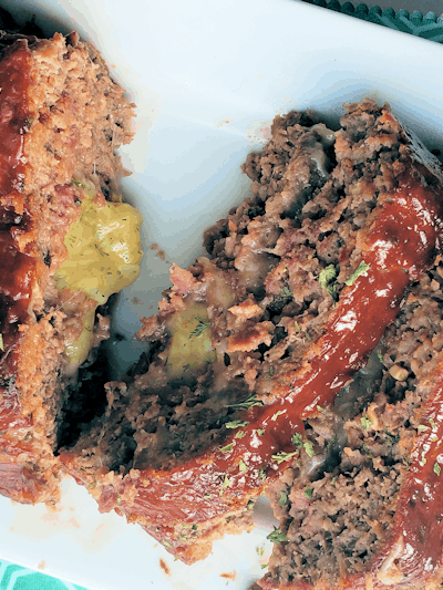 Three Cheese Stuffed Meatloaf