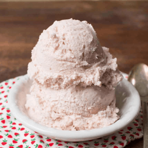 Homemade Strawberry Ice Cream Recipe with Ricotta