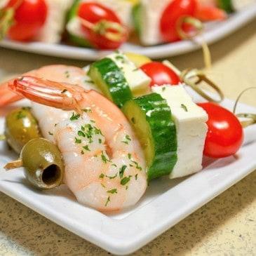 Greek Shrimp Skewers
