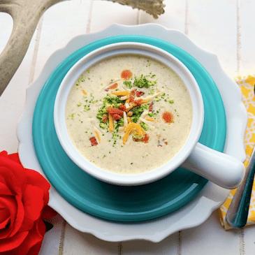 Cheesy Broccoli Soup • THM • Keto • Low Carb